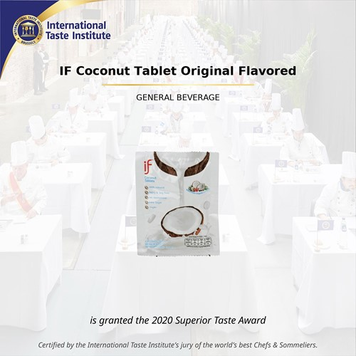 IF Coconut Milk Tablets Original won Superior Taste Award